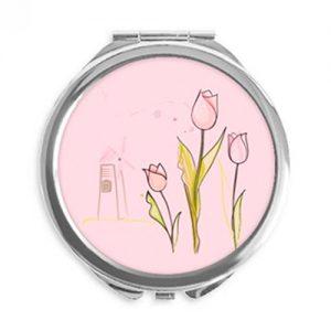 producto-espejos-tulipan-portátil-redondo-rosa