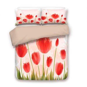 producto-funda-nórdica-tulipanes-capullo-rojo
