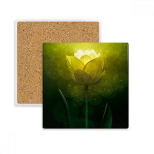 posavasos-tulipán-piedra.absorvente-verde-amarillo