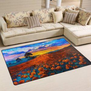 producto-alfombra-tulipanes-atardecer-naranja