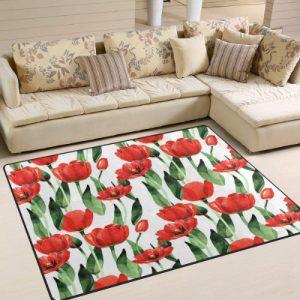 producto-alfombra-tulipanes-rojos-salon