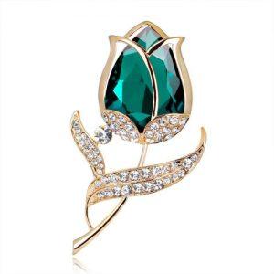 producto-broche-tulipanes-diamante-verde