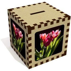 producto-hucha-aglomerado-tulipanes-rosas