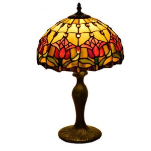 producto-lampara-tulipanes-rojos-estampados