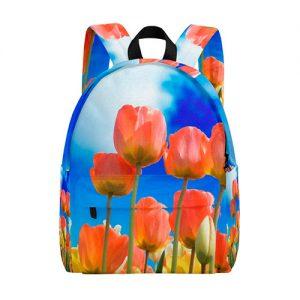 producto-mochila-tulipanes-naranjas-cielo