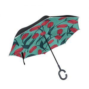 producto-paraguas-tulipanes-dibujos-rojos