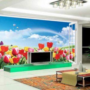 producto-pegatinas-tulipanes-mural-salon