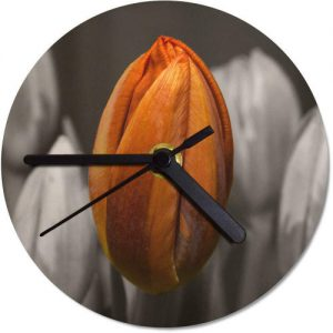 producto-reloj-pared-tulipan-naranja