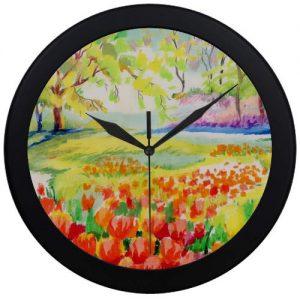 producto-reloj-pared-tulipanes-acuarela