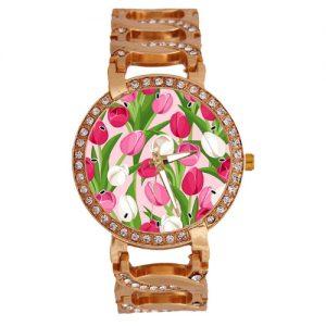 producto-reloj-pulsera-dorado-tulipanes-rojos