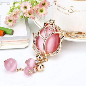productos-llaveros-tulipanes-dorado-rosa