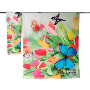 producto-toalla-tulipán-mariposas-tulipanes