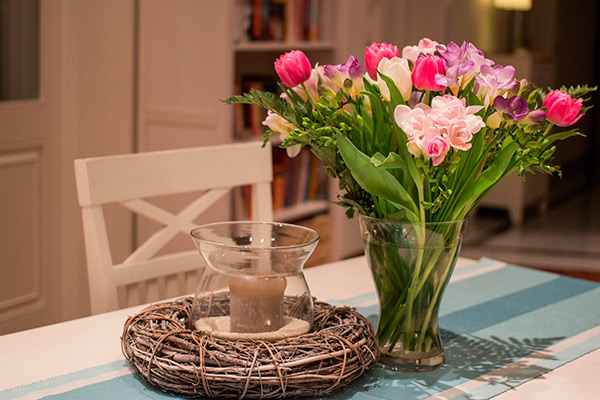 tulipanes en casa