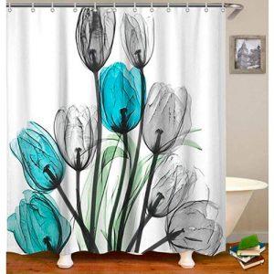 Tulipán-azul-Cortina-ducha