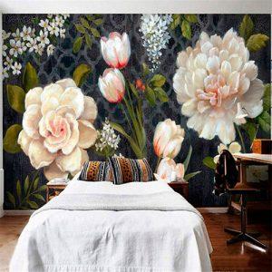 Tulipán-rosa-mural
