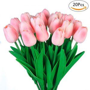 Tulipán-rosa-ramo-20pcs