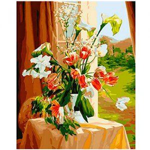 cuadro-tulipanes-acuarelas-jarron