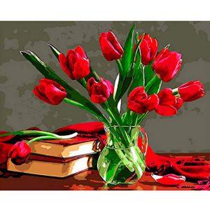 cuadro-tulipanes-jarrón-tulipanes