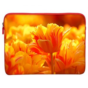 funda-laptop-tulipanes-naranja