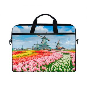 funda-laptop-tulipanes-paisaje-molino