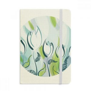 notebook-tela-cubierta-tulipanes-azules