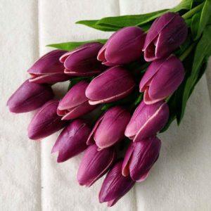 ramo-flores-artificiales-tulipanes-morados
