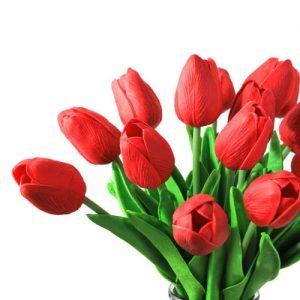 ramo-flores-latex-tulipanes-rojos