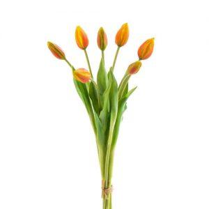 ramo-tulipanes-naranjas-artificiales