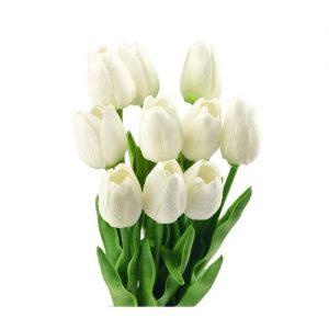 tulipanes-artificiales-ramos-blancos