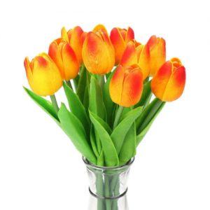 tulipanes-latex-anaranjados