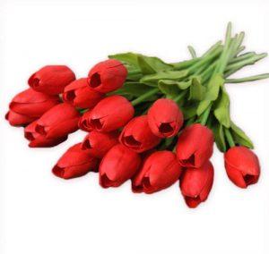 tulipanes-rojos-artificiales-tacto-verdadero